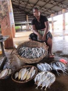 Woman fish seller, Sri Lanka. Source: RFLP