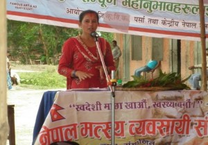 Nepal women farmer who became the new cooperative president. Source: Sunila Rai.