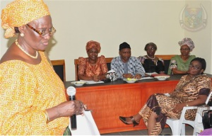 Dr Stella Williams addresses the NIWARD meeting. Source: FUTA