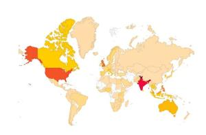 World map of visitors to Genderaquafish.org, 2013. source: WordPress Stats