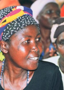 "Woman activist from the Rwanda Women Network taken at a meeting of the Village of Hope project. Photo: Mary Ellsberg in ""Voices and Agency."""