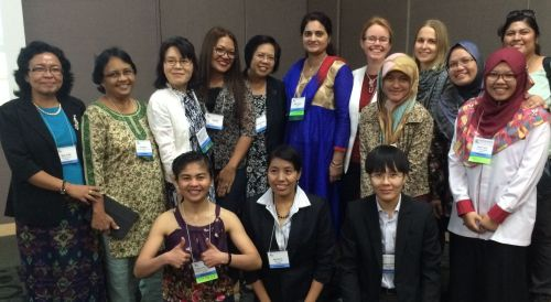 Group of presenters and attendees at WA2015 Women in Aquaculture and Fisheries Session. Photo: Roy Palmer, AwF.