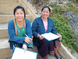 Lao women researchers. Photo: FishBio (Fisheries research, monitoring and conservation) http://fishbio.com/field-notes/population-dynamics/lao-women-in-fish-research