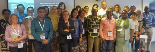 A group of presenters and participants at the end of the Gender Special Session at IIFET-2016, 13 July 2016, Aberdeen. Photo: IIFET.