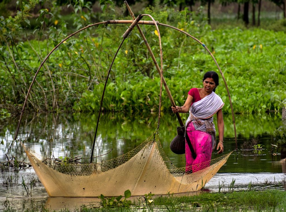 044-WOMEN IN ASSAM FISHING FOR FOOD SECURITY-sm